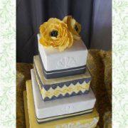 12-10-8-6 Square Cake Yellow