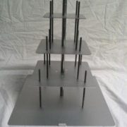 12-10-8-6 Ssquare Set - 4 tier square