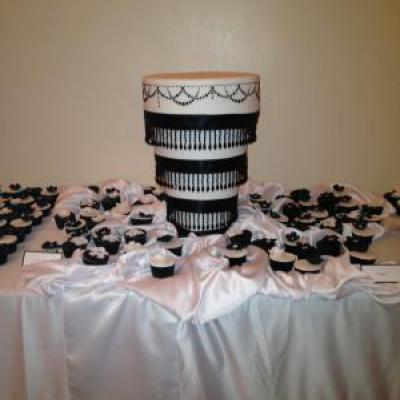 Round 5 Tier Cake Stand 14 12 10 8 And 6 Inch Round