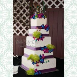 14-12-10-8-6 - Square Set - 5 tier prpl