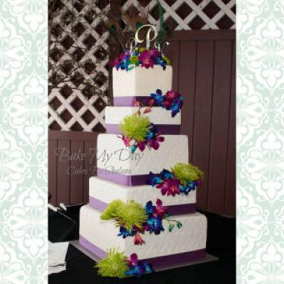 16-14-12-10-8 Square Cake Stand Set