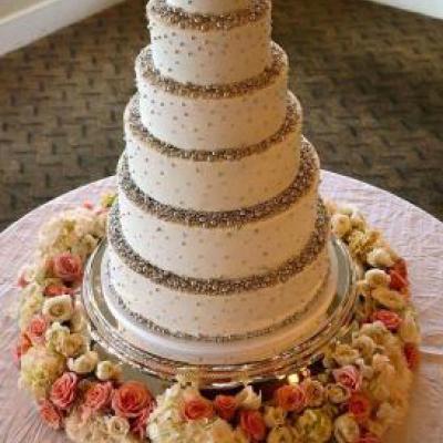 6 Tiered Round Cake Stand 16 14 12 10 8 6 Inch