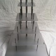 16-14-12-10-8 Square Set - 5 tier square