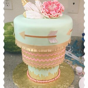 Upside Down 3 Tier Round Pastel