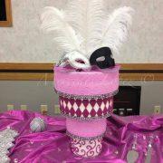 Upside Down Pink Masquerade