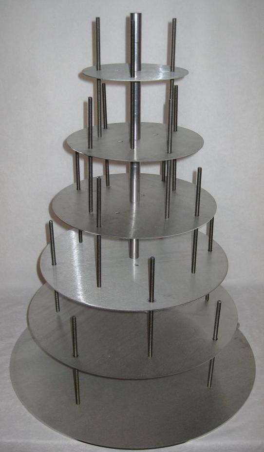 Two Tier Offset Cake Stand
