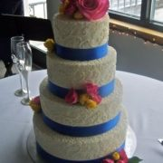 4 Tier Round w Blue Stripe