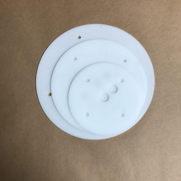 10-8-6 inch round plastic cake board set