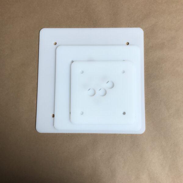 10-8-6 inch square plastic cake board set