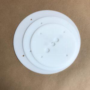 12-10-8 inch round plastic cake board set