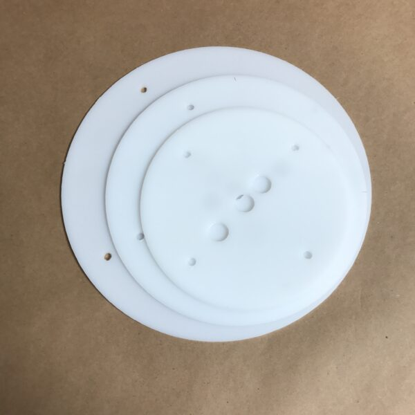 12 10 8 Inch Round Plastic Cake Board Set Hdpe Reusable