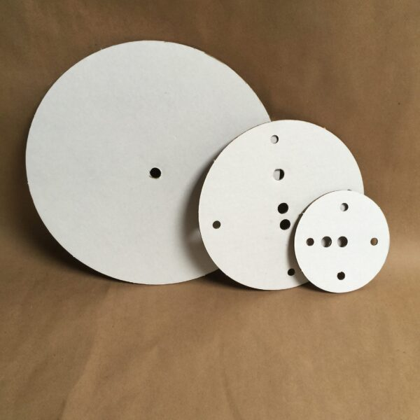 10-8-6 inch round disposable cake board set