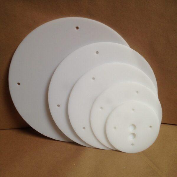 14-12-10-8-6 inch round plastic cake board set