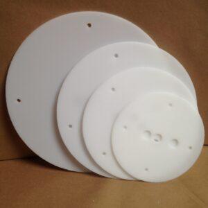 14-12-10-8 inch round plastic cake board set