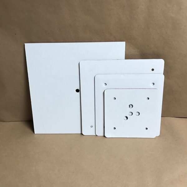 14-12-10-8 inch square disposable cake board set