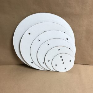 16-14-12-10-8-6 inch round corrugated disposable cake board set