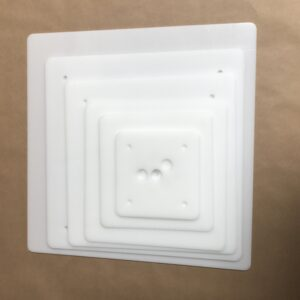 16-14-12-10-8-6 inch square plastic cake board set