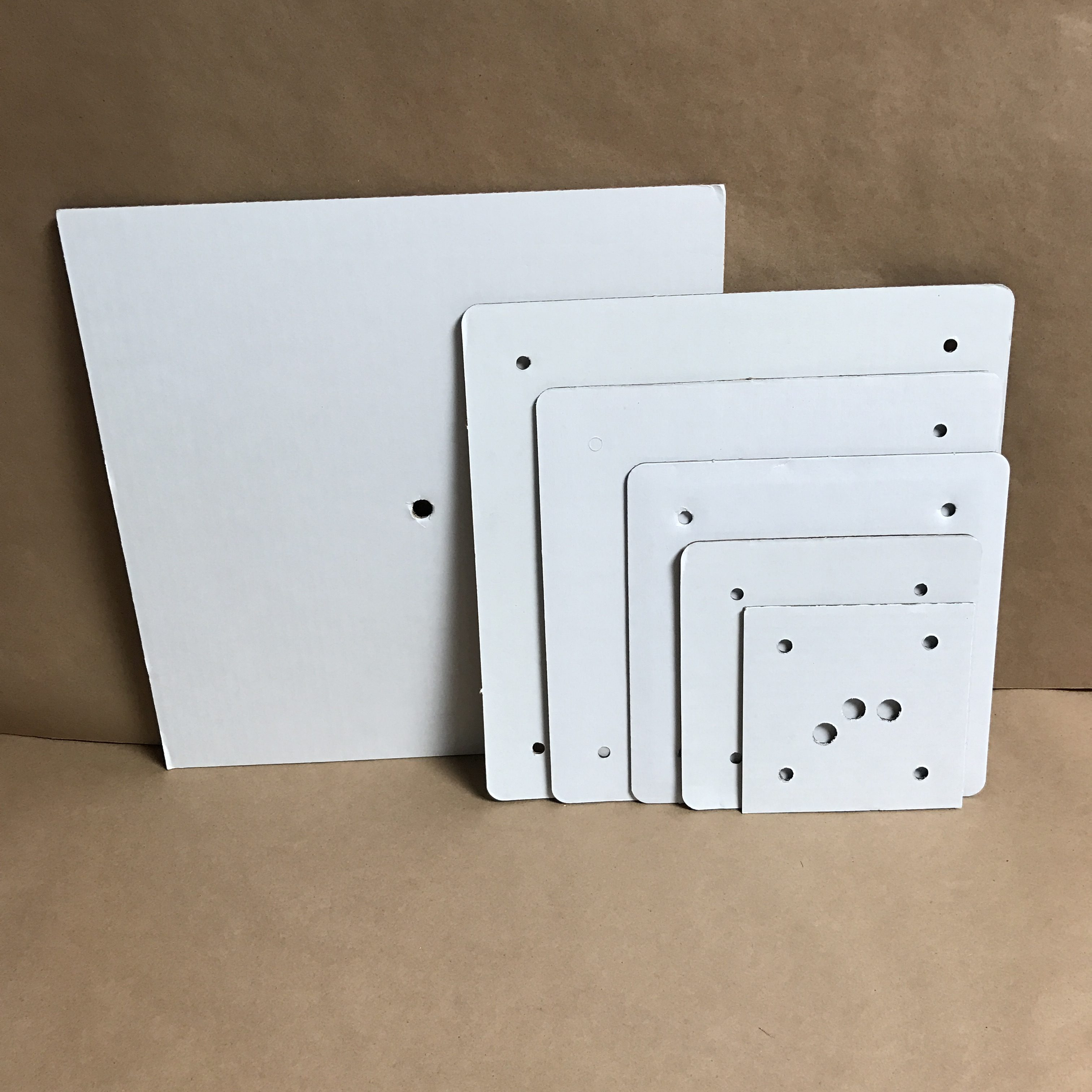 16-14-12-10-8-6 inch square disposable cake boards