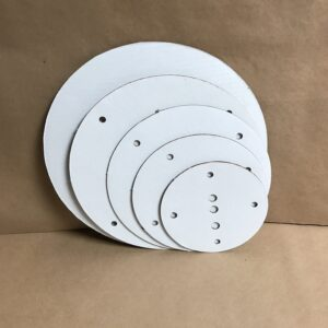 16-14-12-10-8 inch round disposable cake board set