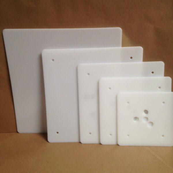 16-14-12-10-8 inch square plastic cake board set