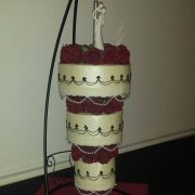Chandelier 3 Tier Red