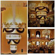 round chandelier cake stand set