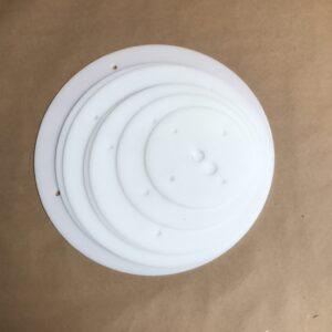 Pro Series 14 inch round plastic cake board set