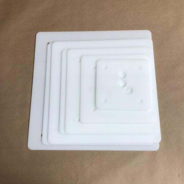 Pro Series 14 inch square plastic cake board set