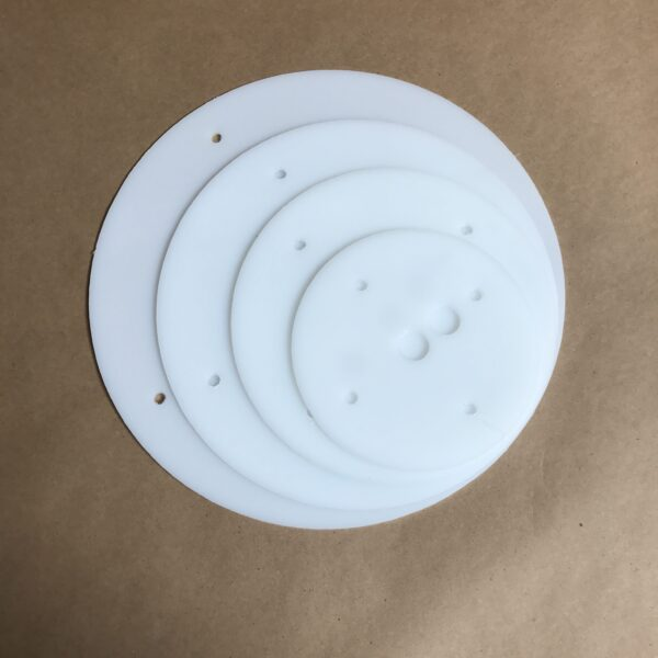 12-10-8-6 inch round plastic cake board set