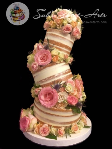 Topsy 3Tier Round Naked Cake